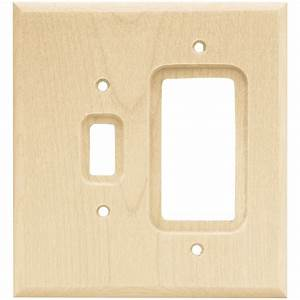 Liberty hardware shop 126796 switchplates unfinished for Kitchen cabinets lowes with birch log candle holders