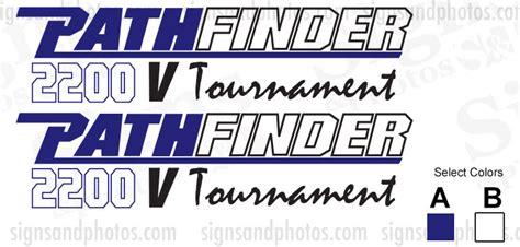 Pathfinder Boats Decals by Pathfinder Boat Logo Decals