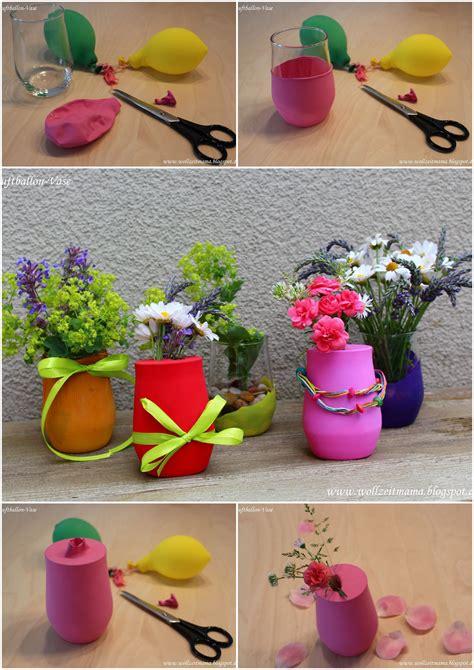 heißluftballon basteln geschenk diy bunte luftballon vasen kleine tischdekoration schnell selber machen mit luftballons und