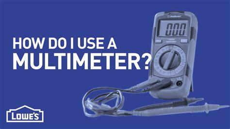 How Do I Use A Multimeter?  Diy Basics  Youtube