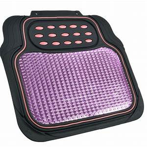 car rubber floor mats pink metallic design on black heavy With pink floor mats for cars