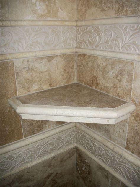 travertine corner shower shelf travertine tile shower n koehn tile el co tx