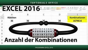 Mögliche Kombinationen Berechnen : kombinationen berechnen fahrradschloss zahlenschloss excel youtube ~ Themetempest.com Abrechnung