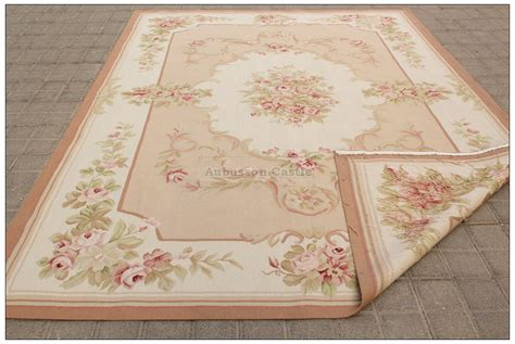 shabby chic rugs 8x10 shabby chic aubusson rug light pink ivory