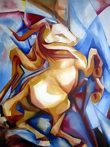 Rearing Horse by Leyla Munteanu