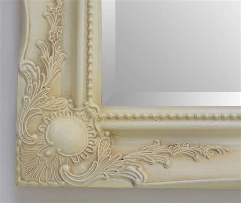 shabby chic mirror uk new cream shabby chic ornate mirror choose your size ready to hang bargain