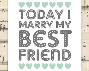 """""""today I Marry My Best Friend"""" And Other Wedding Cliches"""