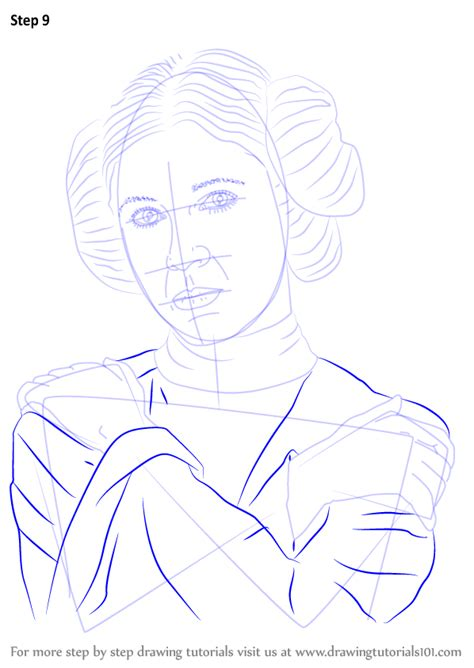 learn   draw carrie fisher celebrities step  step