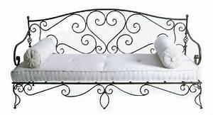 Banquette Fer Forgé : salon banquette canap et fauteuils fer forg sofas forged iron ~ Teatrodelosmanantiales.com Idées de Décoration