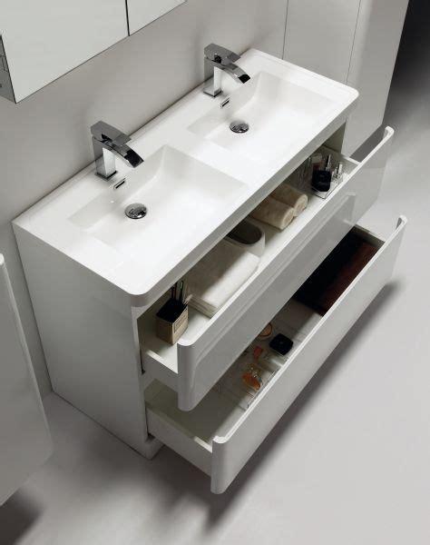 doppelwaschbecken 120 cm m 246 bel bad doppelwaschbecken 120 cm helle wei 223 e auf dem boden stehend rondo 1200