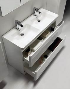 meubles lave mains robinetteries meuble sdb meuble With double vasque à poser salle de bain