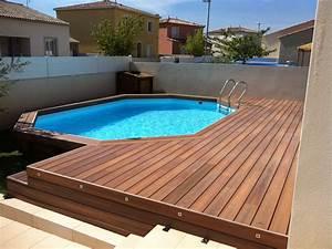 Piscine Hors Sol Composite : am nagement de terrasse de piscine hors sol en composite ~ Dode.kayakingforconservation.com Idées de Décoration