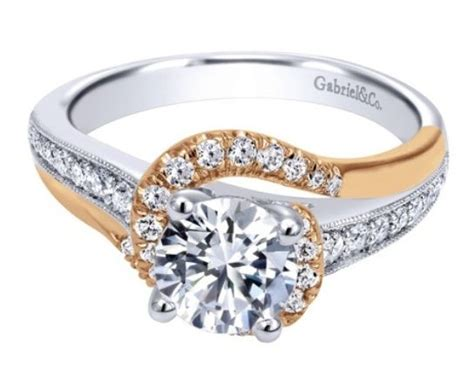 White And Yellow Gold Mixed Engagement Rings