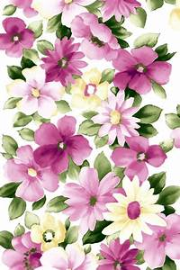 Pink Flower Oil Art Iphone 4 Wallpapers Free 640x960 Hd ...