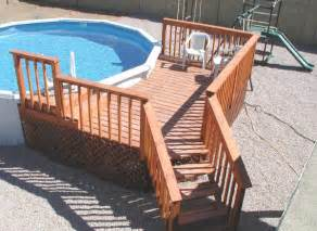 Pool Decks Plans Inspiration by Wooden Deck Plans Above Ground Pools