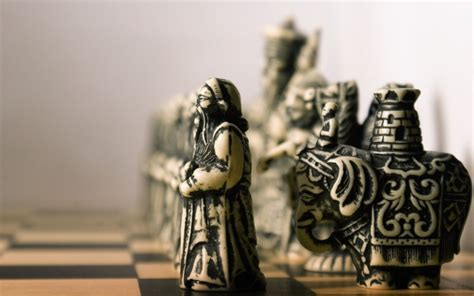 photography macro chess figurines board games