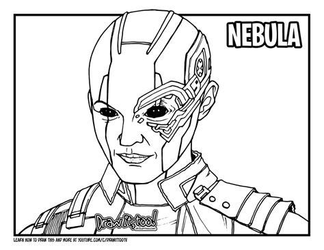 draw nebula avengers endgame drawing tutorial