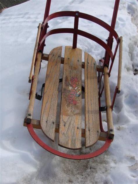 vintage flexible flyer push sled vintagewinter