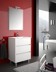 meuble de salle de bain salgar serie arenys 60 cm With meuble salle de bain largeur 80 cm