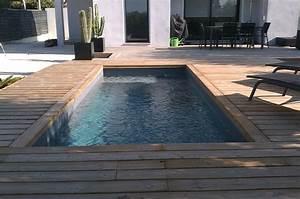 chantiers terrasse en bois habillage piscine spa sur With piscine et terrasse bois