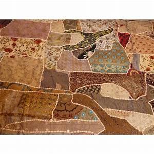 Couvre Lit Patchwork : couvre lit en patchwork brod fait main sahel ~ Teatrodelosmanantiales.com Idées de Décoration