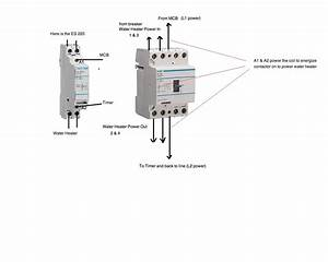 I Need To Connect Hager Contactor It Is 230v Single Phase It Is To Switch Sockets Through A