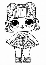 Lol Coloring Surprise Doll Dolls Printable sketch template