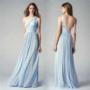 Ice Blue Bridesmaid Dresses One Shoulder Cheap Maid Of ...