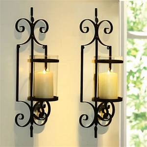 12 delightful wrought iron candle holder for house walls for Kitchen colors with white cabinets with wall sconce candle holder wrought iron