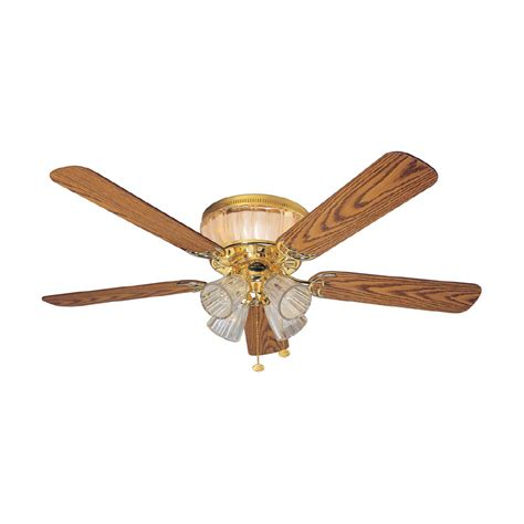 harbor breeze ceiling fan installation shop harbor breeze 52 quot moonglow polished brass ceiling fan