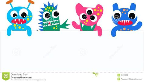 monsters   placard royalty  stock image image