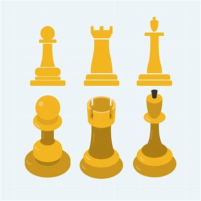 2d Icon Chess Piece Vecteezy Schachfiguren Vektor