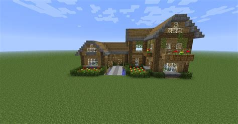 minecraft maison en bois simple
