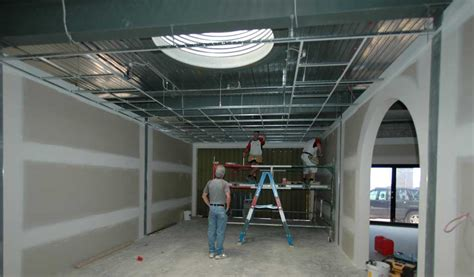 Unistrut Ceiling Grid by The Suspended Ceiling Grid Starts To Go Up