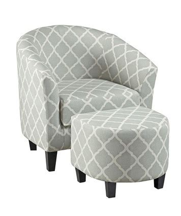 seafoarm upholstered barrel accent chair ottoman by