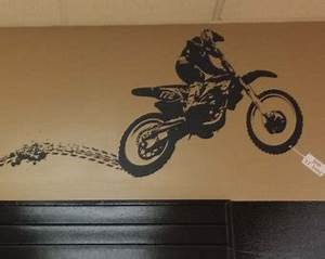 dirt bike wall decal etsy With dirt bike wall decals for home decorating