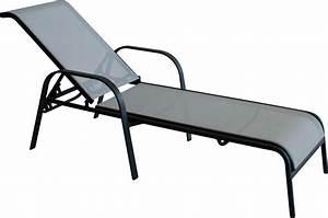 Chaise En Acier : chaise longue jardin empilable en acier ~ Teatrodelosmanantiales.com Idées de Décoration