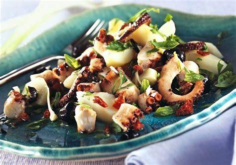 cuisiner tentacules de poulpe recette salade de poulpes insalata di mare sur