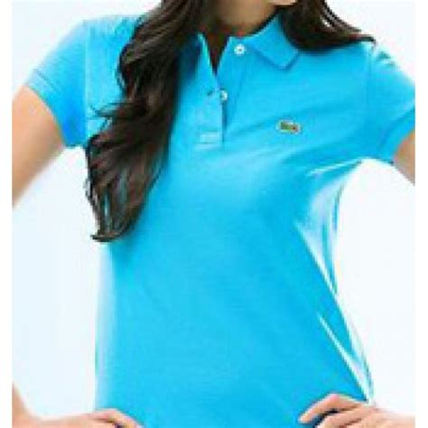 light blue polo shirt womens lacoste women 39 s light blue polo shirt