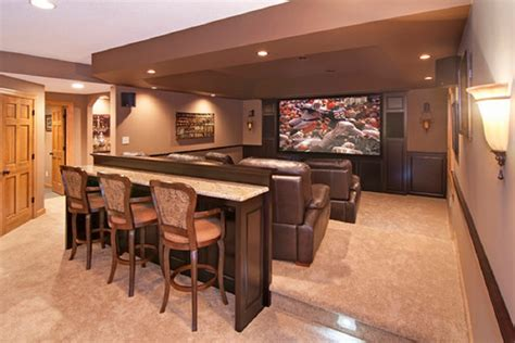 home theater seating layout ideas fabric sofa in front of book storage cabinet basement home