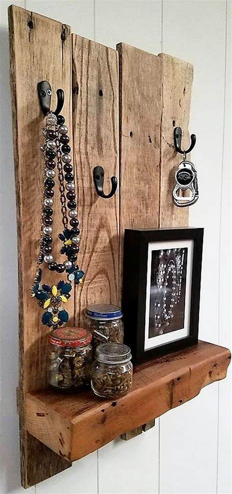 recycled wooden pallet shelf  rustic  wood