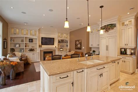open house plans with large kitchens gorgeous open concept kitchen living room elmwood kitchens