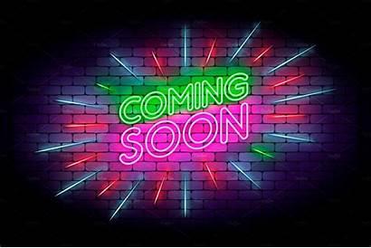 Soon Coming Neon Avalon Aesthetic Boats Creativemarket