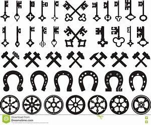 Heraldic Horns On Shield Vector Illustration ...