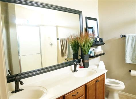 Framing Bathroom Mirrors Diy by How To Frame A Mirror Diy Bathroom Mirror Frames