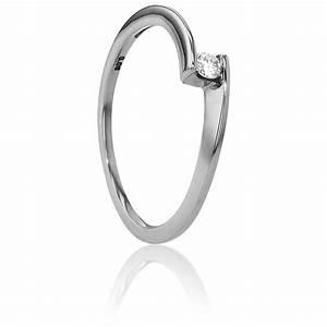 Anillo compromiso Solitario Oro Blanco diamante con peso 0,06ct Ocarat