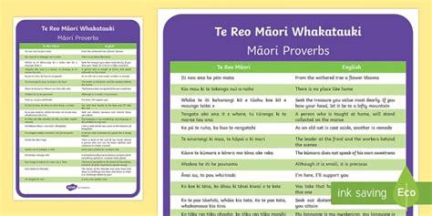 te reo maori whakatauki  display poster maori phrase book