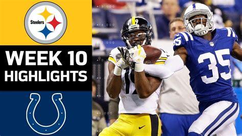 Steelers Vs Colts  Nfl Week 10 Game Highlights Youtube