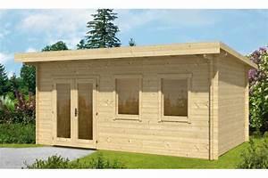 Chalet Bois Toit Plat : abri de jardin toit plat 12m2 ~ Melissatoandfro.com Idées de Décoration