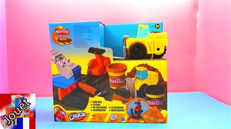 scierie play doh unboxing jeu de p 226 te 224 modeler chantier de construction